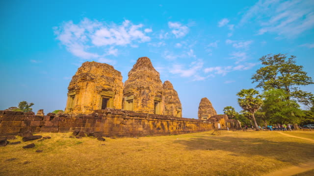 MS TS POV T/L View of PreRup Temple in Siem Reap, Angkor Wat / Angkor, Siem Reap, Province Colombia