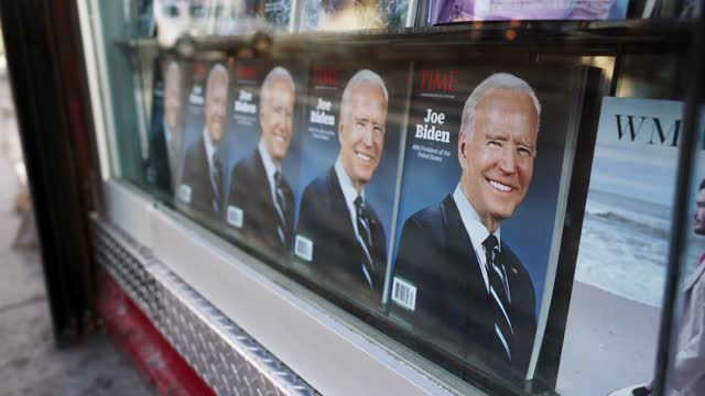 NY: President-elect Joe Biden on a Time Commemorative Edition magazine cover