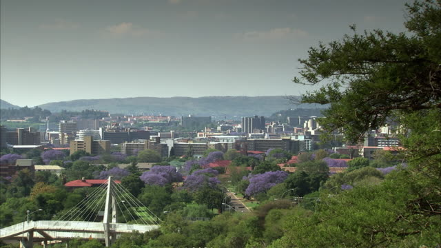 ws pan view of pretoria cbd / pretoria, tshwane, south africa - pretoria stock videos & royalty-free footage