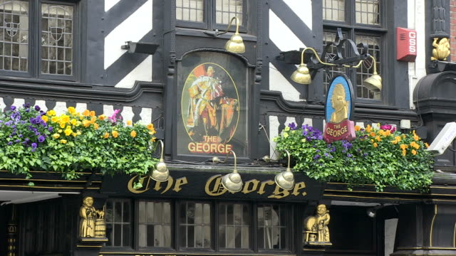 ms view of pub exterior / london, england, great britain    - establishing shot stock videos & royalty-free footage