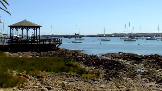 view of punta del este's harbor, summer, outdoors, uruguay - sedative stock videos & royalty-free footage