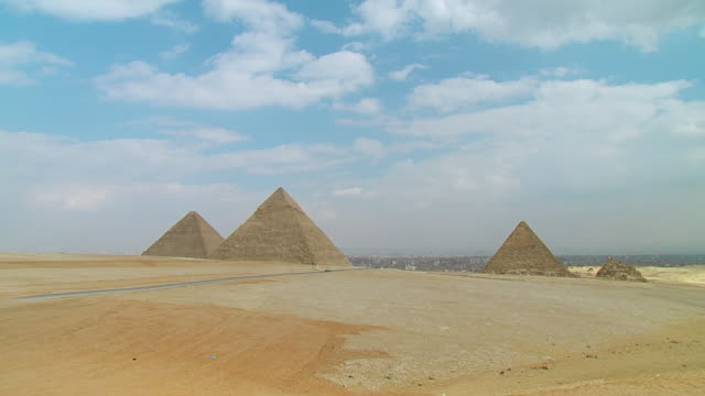 WS View of Pyramids / Giza, Egypt