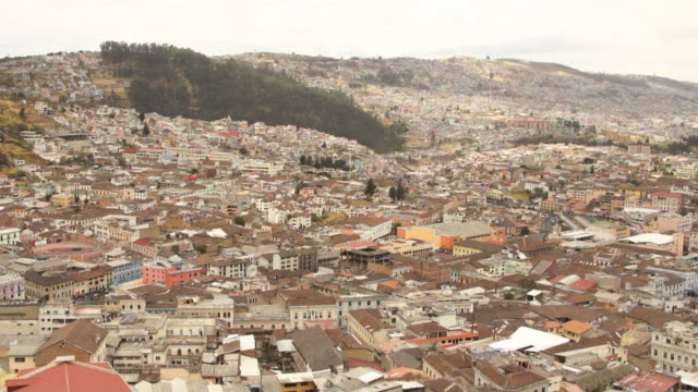 View of Quito old town.