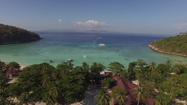 view of racha island in phuket, thailand - phuket stock videos & royalty-free footage