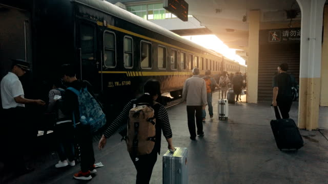 view of railway station platform,xi'an,china. - underground station stock videos & royalty-free footage