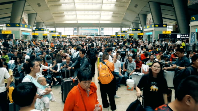 view of railway station,beijing,china. - richtung stock-videos und b-roll-filmmaterial