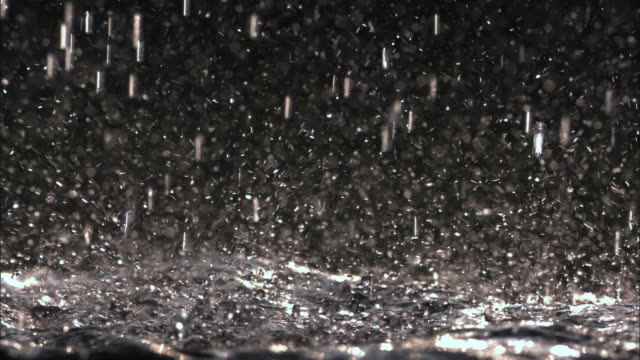 cu slo mo view of rain in night / vienna city, vienna, austria - pioggia video stock e b–roll