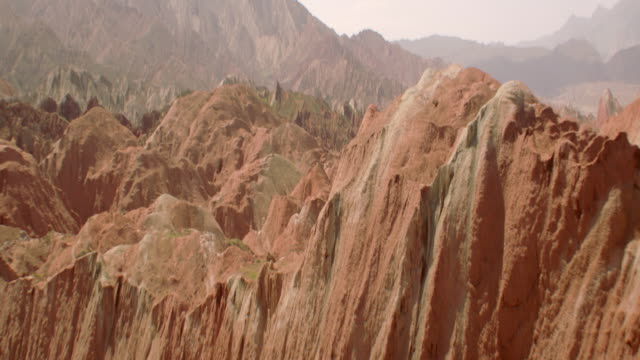 View of rainbow mountains in Zhangye Danxia Landform, China