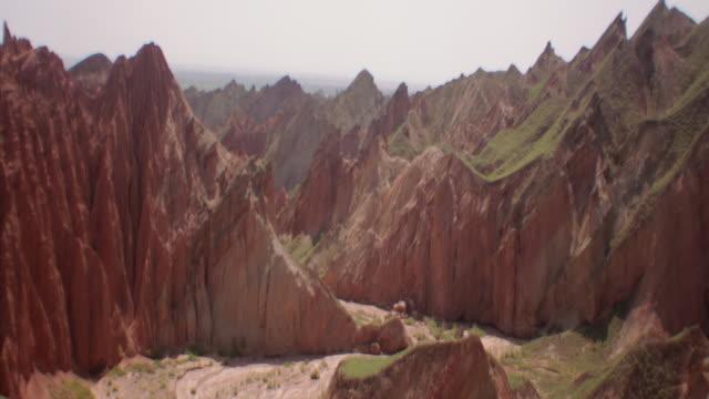 View of rainbow mountains in Zhangye Danxia Landform, China