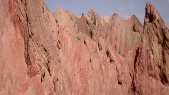 view of rainbow mountains in zhangye danxia landform, china - 50 seconds or greater stock videos & royalty-free footage