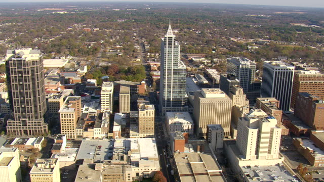 WS AERIAL View of Raleigh / North Carolina, United States
