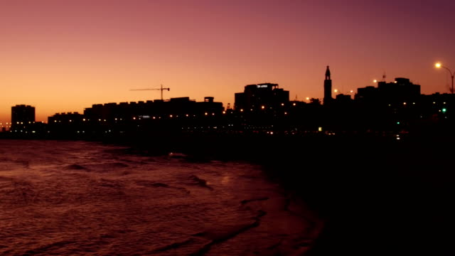 "view of ""rambla de montevideo"", near downtown, uruguay - tranquillising stock videos & royalty-free footage"