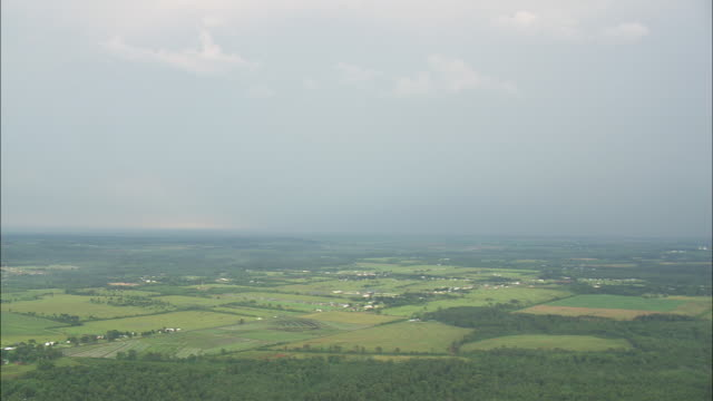 WS AERIAL View of Ranches and farmland / Texas, United States