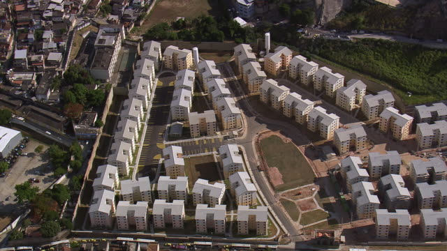 WS AERIAL View of Raw houses / Rio de Janeiro, Brazil