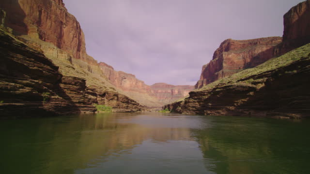 WS POV View of Red Cliffs and river in Grand Canyon / Grand Canyon, Arizona, USA