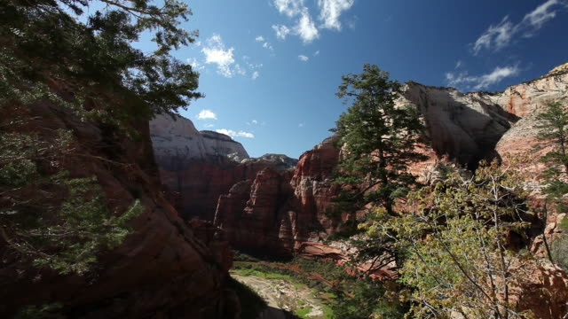 ms view of red rock mountain / zion national park, utah, united states - ザイオン国立公園点の映像素材/bロール