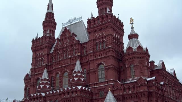"""view of """"red square"""" in moscow, russia, on december 4, 2019. red square is a city square in moscow, russia. it separates the kremlin, the former... - tornspira bildbanksvideor och videomaterial från bakom kulisserna"""