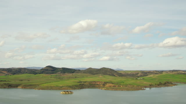 WS ZO TL View of reservoir lake in mountains near Campillos / Campillos, Andalusia, Spain