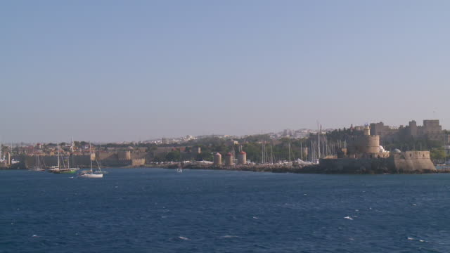 ws pov view of rhodes / rhodes, dodecanese islands, greece - rhodes dodecanese islands stock videos & royalty-free footage