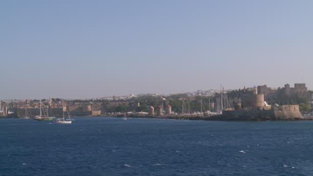 WS POV View of Rhodes / Rhodes, Dodecanese islands, Greece