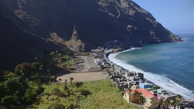 View of Ribeira do Paul and Vila das Pombas a municipality of island of Santo Antão, Cape Verde