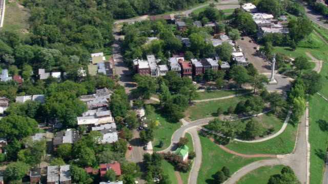 ws aerial zi view of richmond suburbs / virginia, united states - richmond virginia stock videos & royalty-free footage