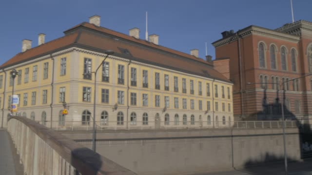 view of riddarholmen church and centralbron, stockholm, sweden, scandinavia, europe - circa 13th century stock videos and b-roll footage