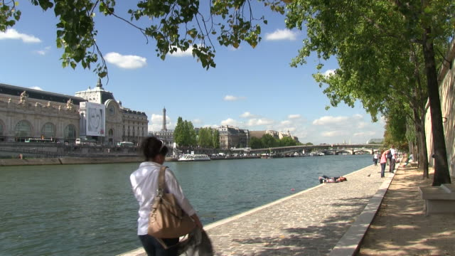ws view of river seine / paris, ile-de-france, france     - real time stock videos & royalty-free footage