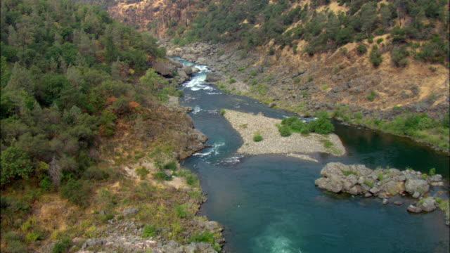 ws pov view of river through valley / sacramento, california, usa - narrow stock videos & royalty-free footage
