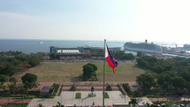 view of rizal park in manila, philippines - filippine video stock e b–roll