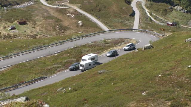 WS View of road at Sognefjellsvegen mountain / Jotunheimen Nationalpark, Sogn og Fjordane, Norway