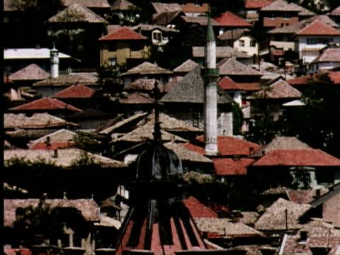 MS View of road city, Belgrade, Yugoslavia / AUDIO
