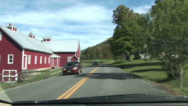 View of road from car in Vermont United States