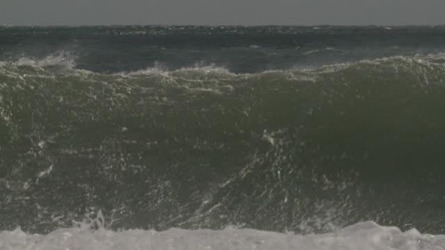 MS PAN SLO MO View of rolling wave in ocean / Elephant Beach, Falkland Islands, Falkland Islands