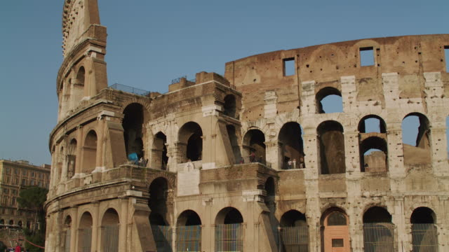 ws tu view of roman colosseum / rome, italy - roman stock videos and b-roll footage