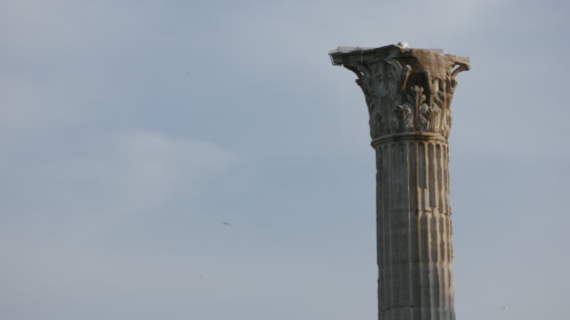 ms view of rome column / rome, italy - old ruin stock videos & royalty-free footage