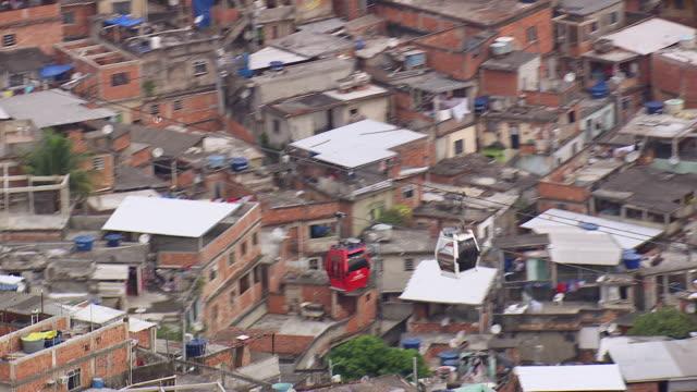 WS AERIAL TS View of ropeway in city / Rio de Janeiro, Brazil