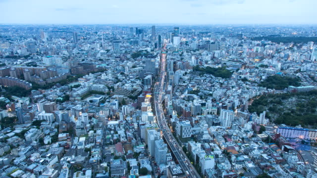 ws t/l view of roppongi street between shibuya and roppongi / tokyo, japan - roppongi stock videos and b-roll footage