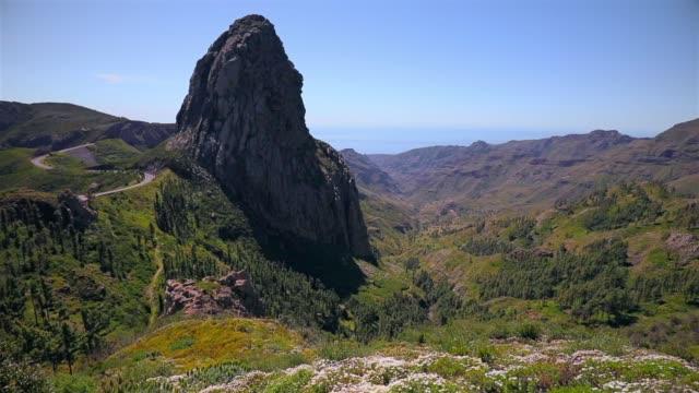 Visa Roque de Agando - Garajonay National Park Kanarieöarna La Gomera - Spanien