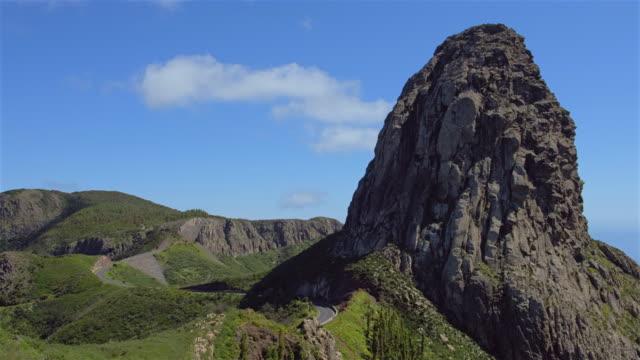 Weergave van de Roque de Agando op op Canarischeeilanden La Gomera - Spanje