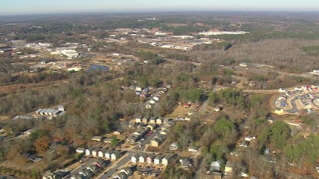 WS AERIAL View of row houses / Georgia, United States