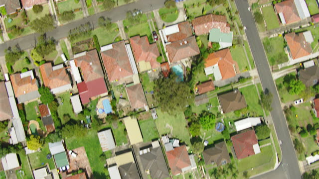 WS AERIAL View of row houses / Sydney, New South Wales, Australia