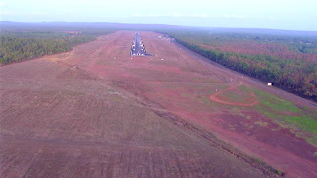 ws aerial view of runway / darwin, northern territory, australia - runway stock videos & royalty-free footage