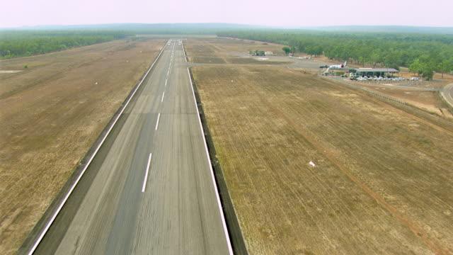 WS AERIAL View of runway / Darwin, Northern Territory, Australia