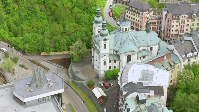 ws aerial view of russisch orthodox kirche st. peter und paul / dubrovnik, dubrovnik neretva county, croatia - kirche stock videos and b-roll footage