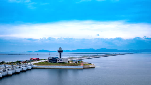 View of Saemangeum (An estuarine tidal flat on coast of Yellow Sea in South Korea)