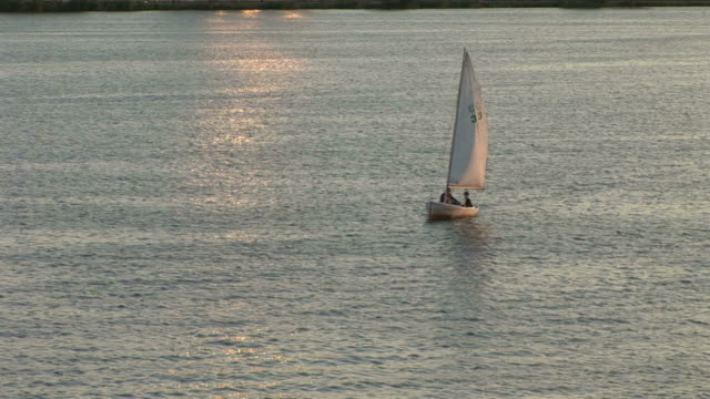 View of sailboat cruising in Boston United states