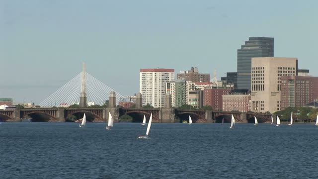 View of sailboats in Boston United states