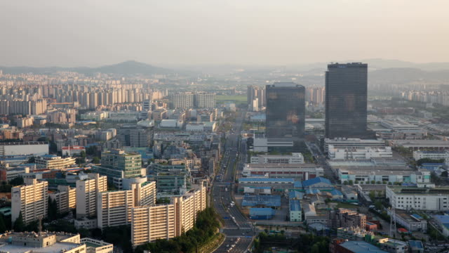 view of samsung digital city (office building) - suwon stock videos and b-roll footage