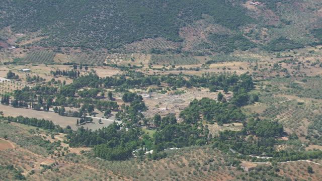 WS AERIAL ZI View of sanctuary of epidaurus / Epidaurus, Peloponnese, Greece